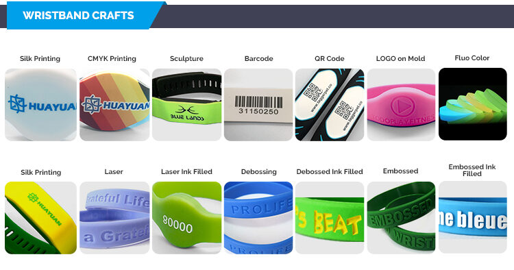 Crafts of RFID Silicone Wristbands