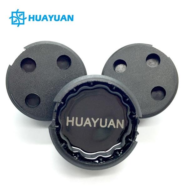 Huayuan rfid waste bin worm tag with logo