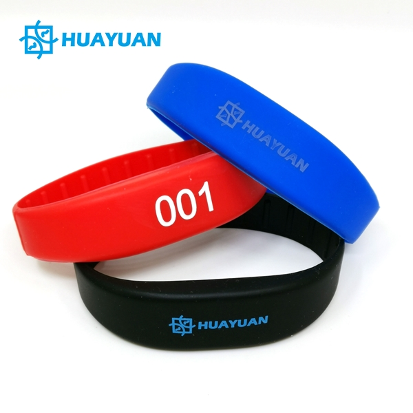 HUAYUAN Custom Passive Silicone RFID Hotel Wristbands